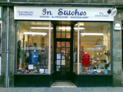 InStitches - Shop front at 22 Bell Street, St Andrews, Fife